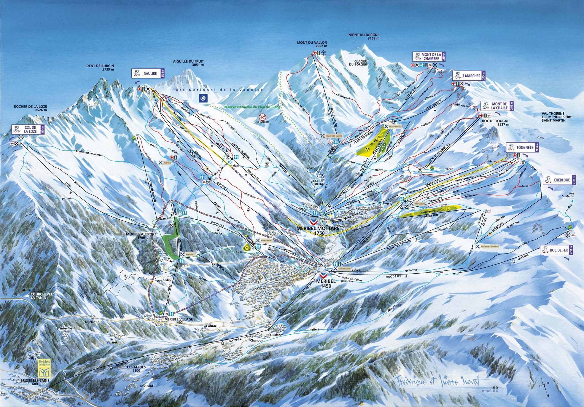 meribel-ski-map