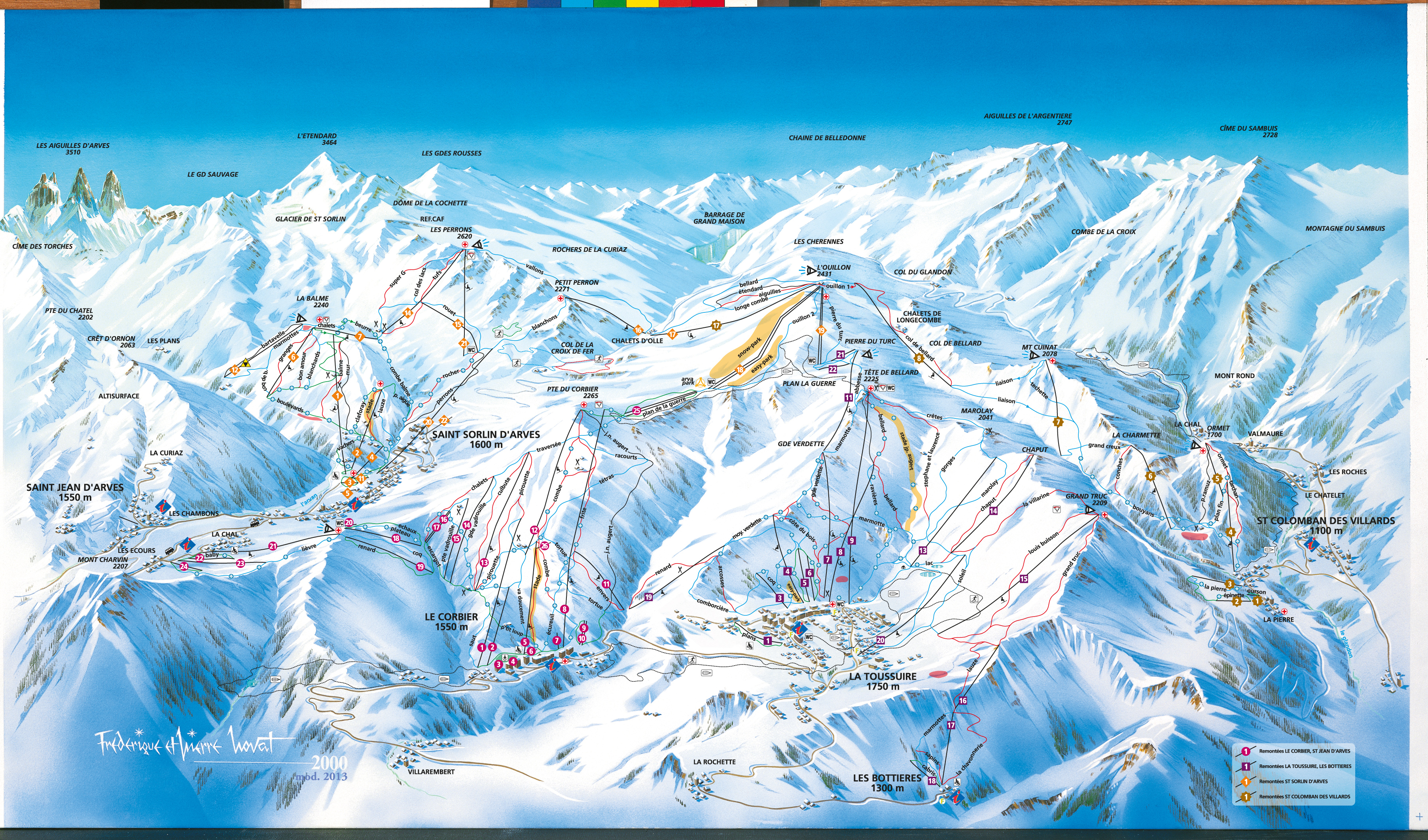 sybelles SKI MAP