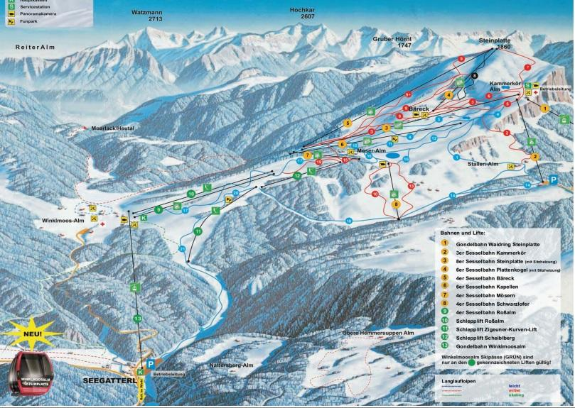 winklmoosalm_ski_map