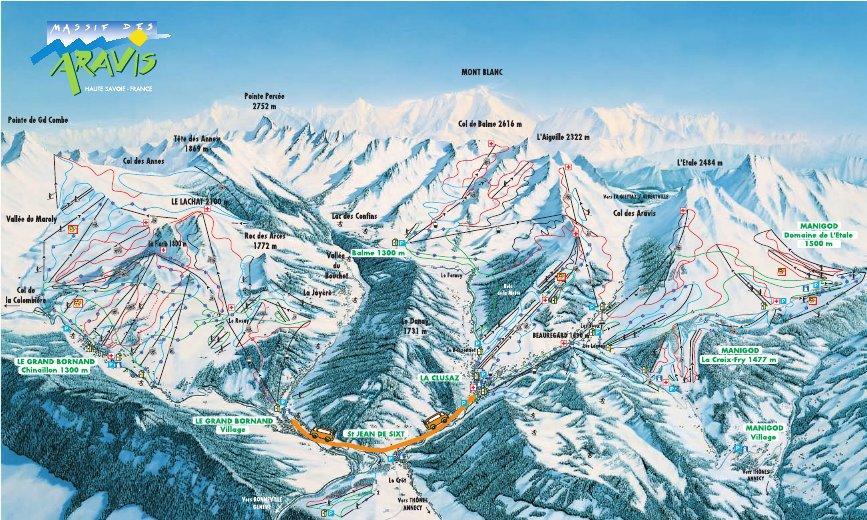 Massif-Des-Aravis-Piste-Map