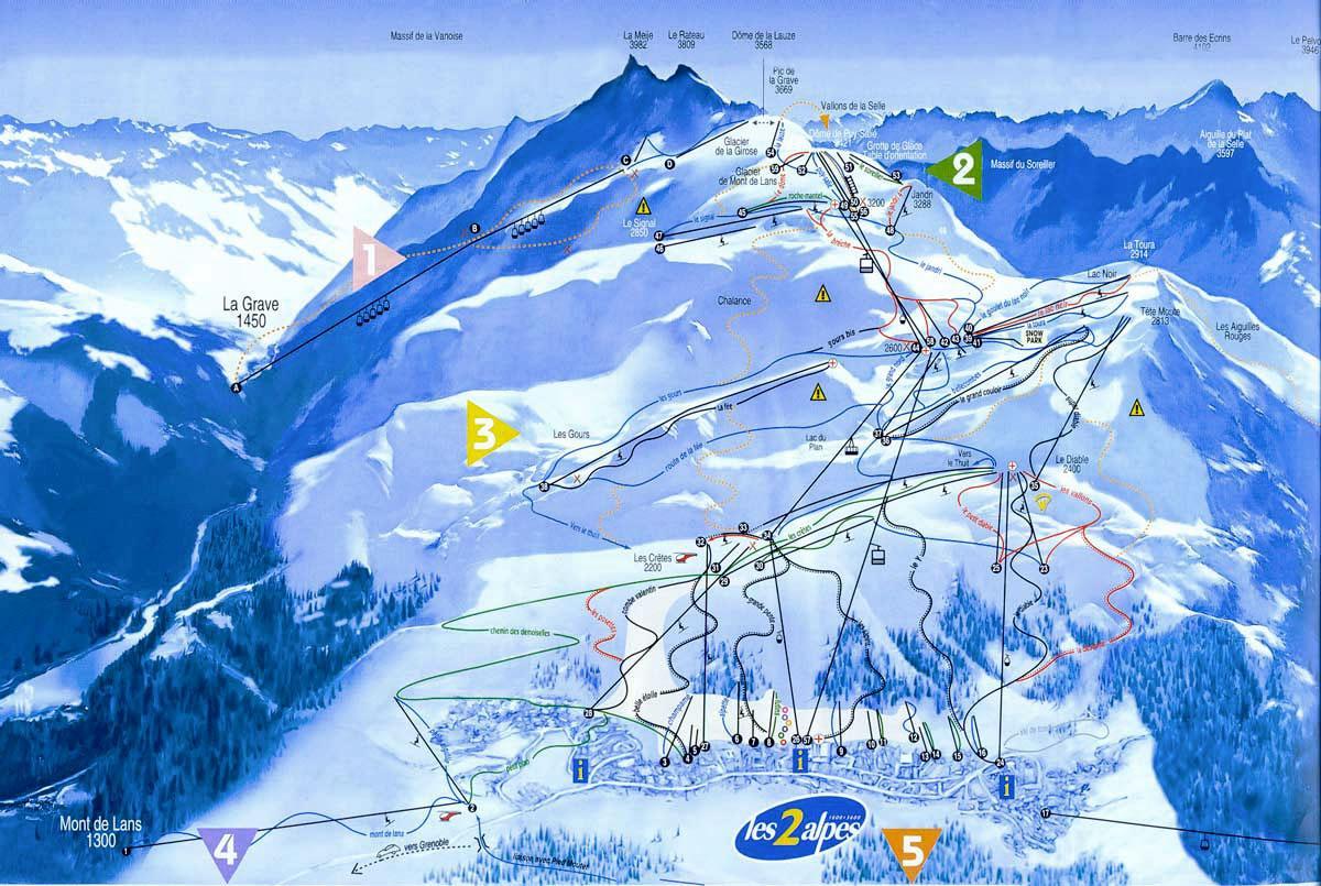 описание и схема курорта лез арк во франции